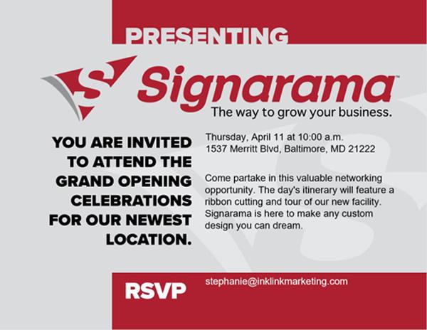 Signarama Invitation