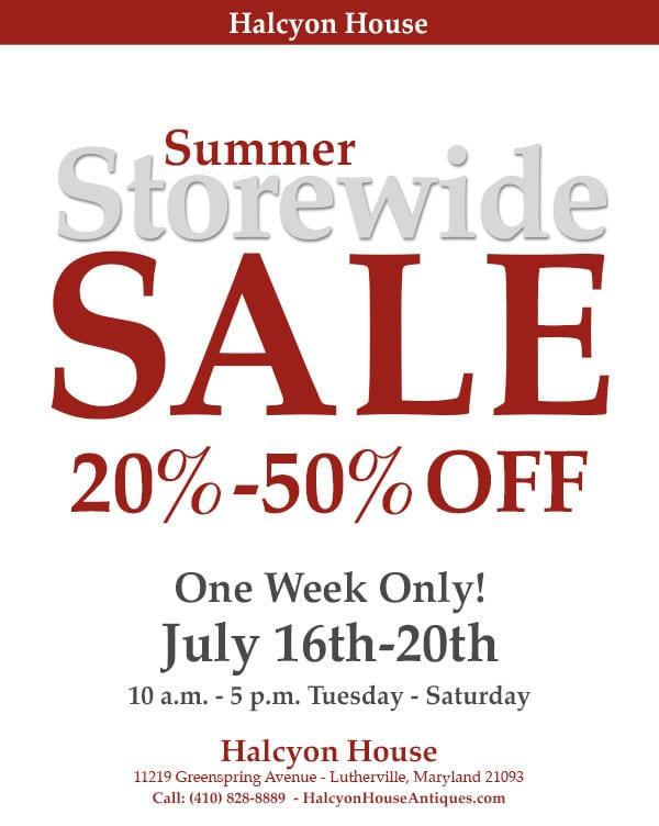 Halcyon House Summer Sale